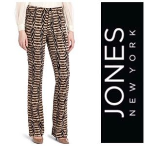 Jones New York Mercer Bootcut Ikat Corduroy Pants